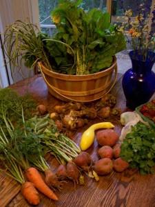 Panier bio de légumes
